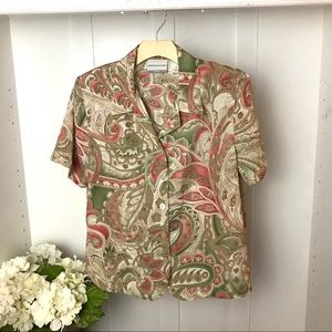 Vintage Paisley Print Alfred Dunner Blouse